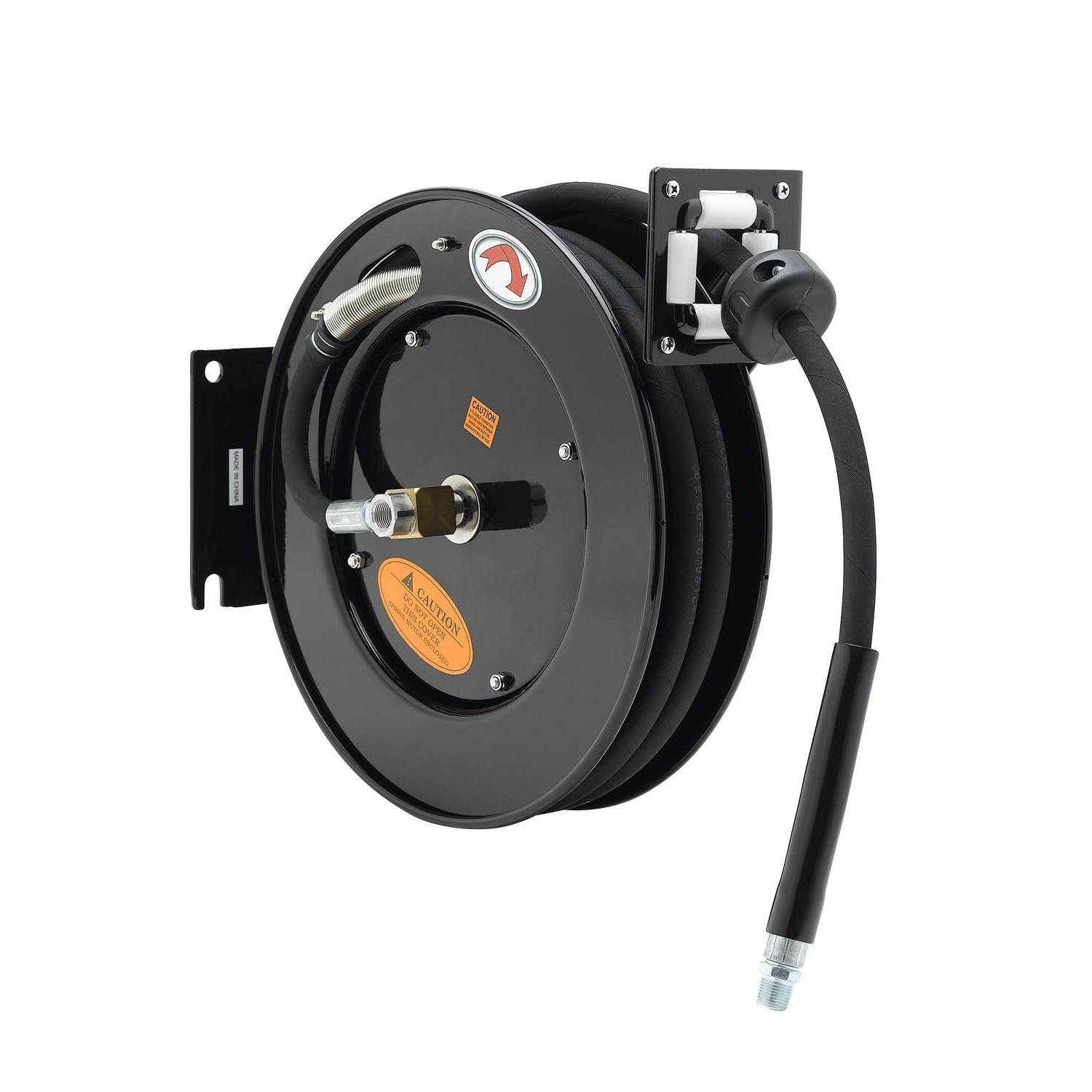 "T&S BRASS HOSE REEL, OPEN, EPOXY COATED STEEL, 3/8"" ID X 50^ HOSE"