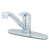 "T&S BRASS SINGLE LEVER FAUCET, 9"" SPOUT,"