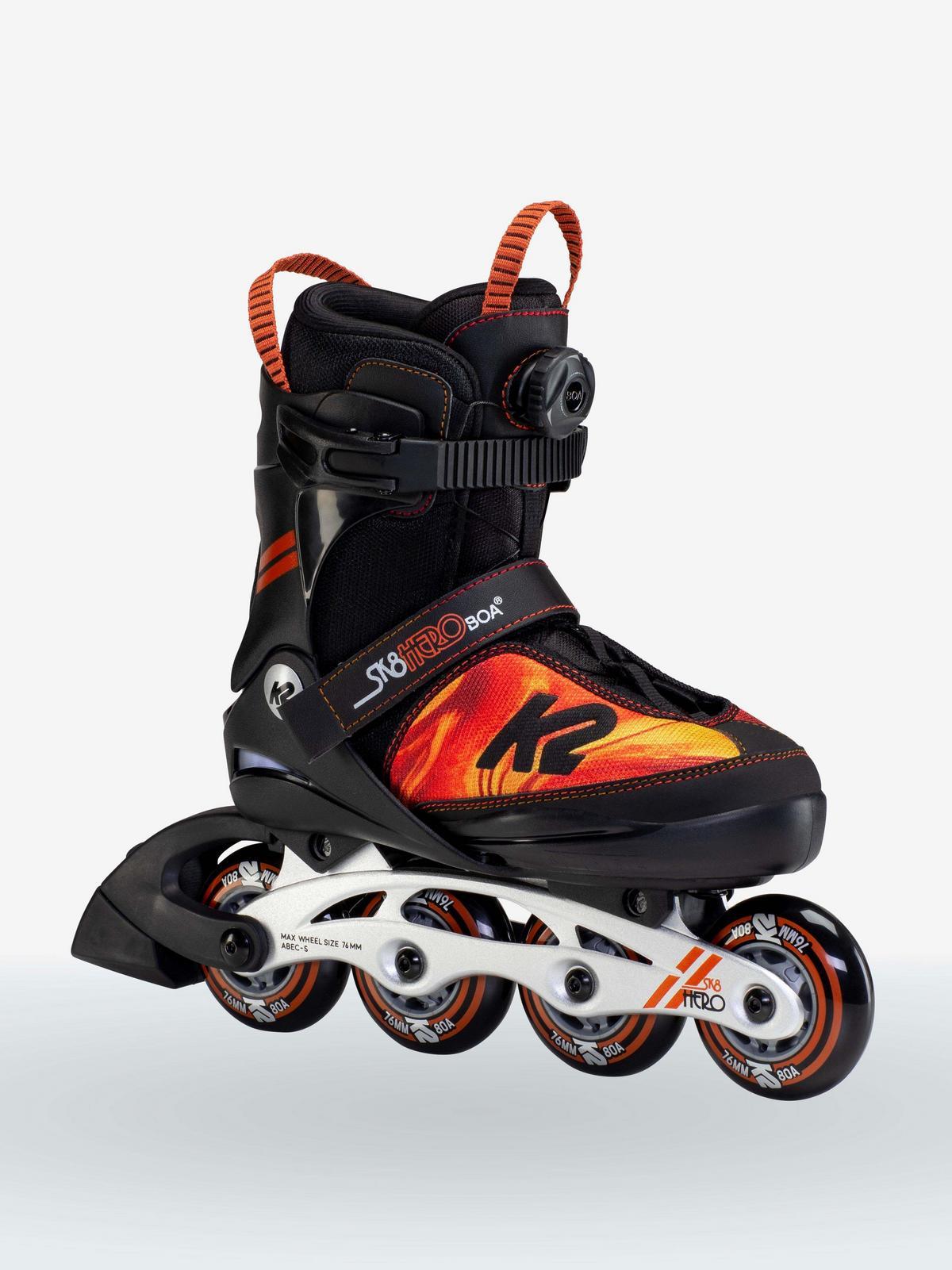K2 Skate SK8 Hero BOA ALU 4-8 Orange/_Swirl