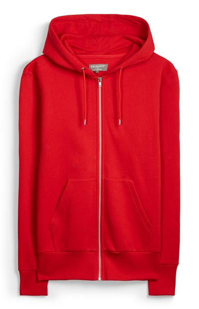Red Zip Hoody