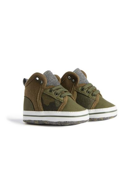 Baby Boy Camo Knit Pumps Trainer