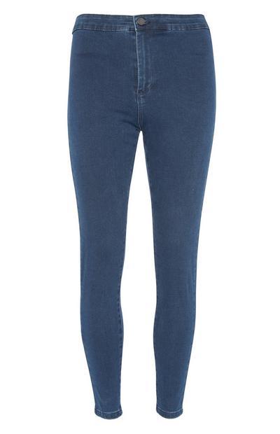 Blaue Skinny-Fit-Jeans