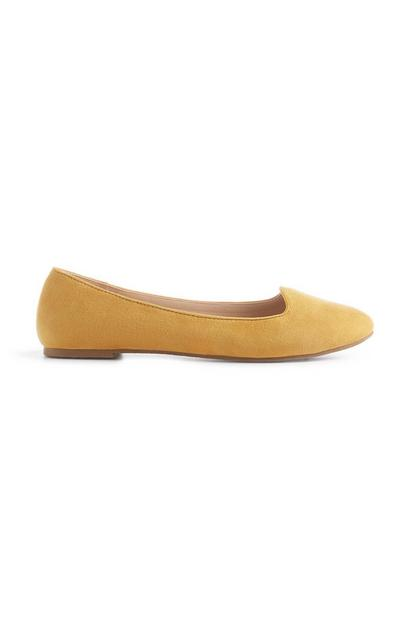 Yellow Loafer Pump