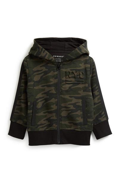 Older Boy Camo Zip Hoody