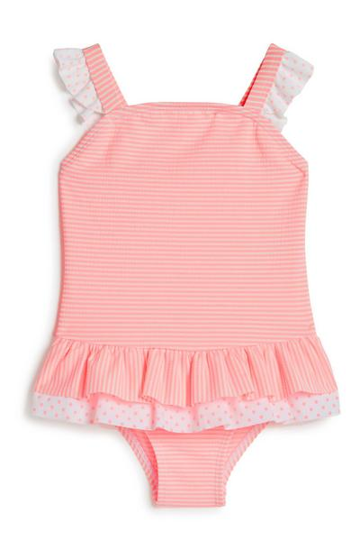 Baby Girl Pink Frill Swimsuit