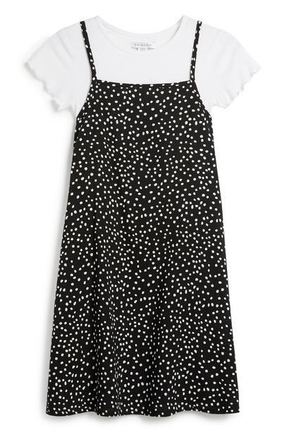 Gepunktetes T-Shirt-Kleid