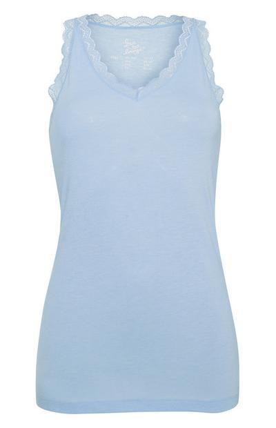 Blue Trim Vest