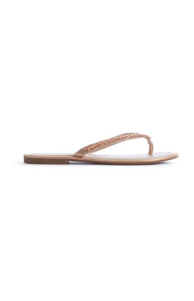 Blush Diamante Flip Flop