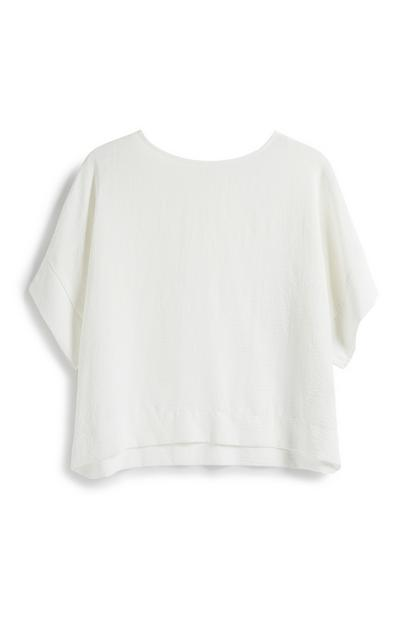 White Crop T-Shirt