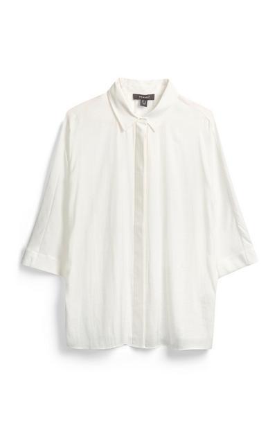 Wide Sleeve White Shirt