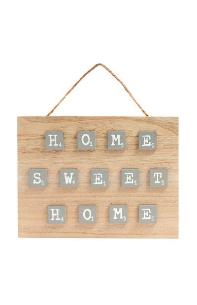 """Home Sweet Home"" Holzschild"