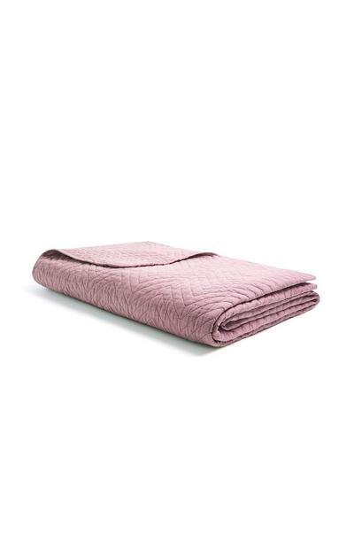 Pink Quilted Throw
