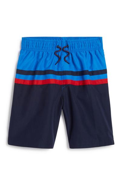 Older Boy Stripe Swim Short