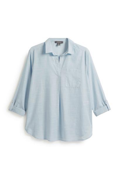 Blaues Tunikahemd