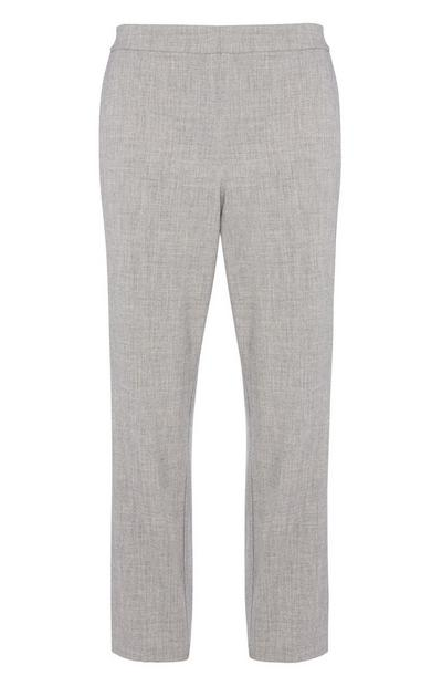 Graue Slim-Fit-Hose