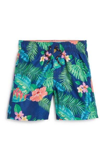Younger Boy Tropical Swim Short