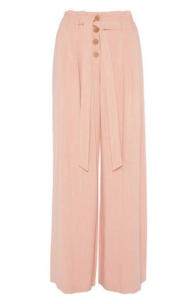Pink Wide Leg Trouser