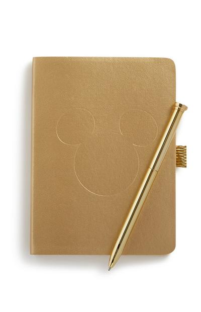 Mickey Mouse Notebook And Gold Pen