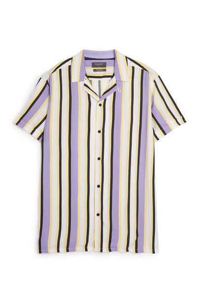 Violett gestreiftes Kombi-Hemd