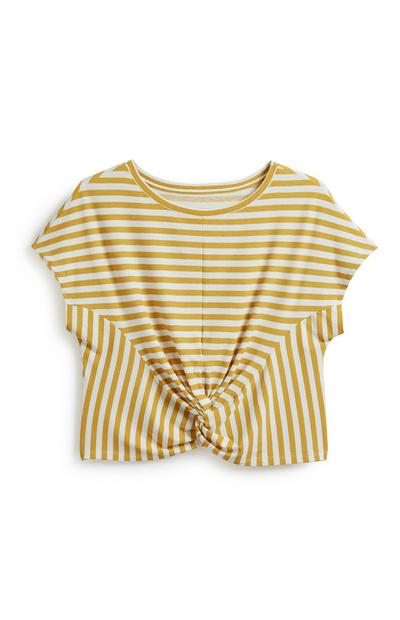 Stripe Twist Front Top
