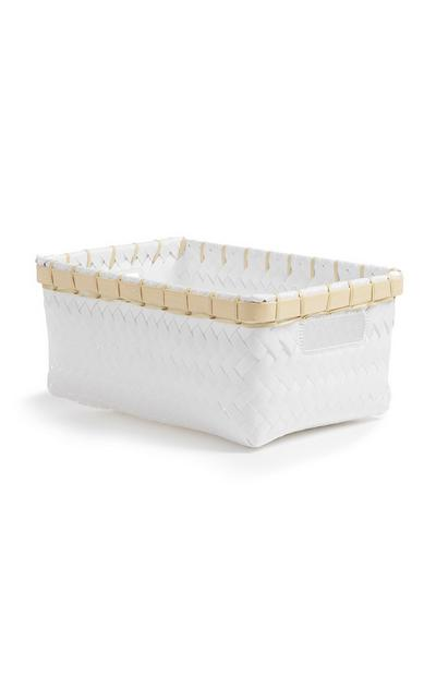 White Single Basket