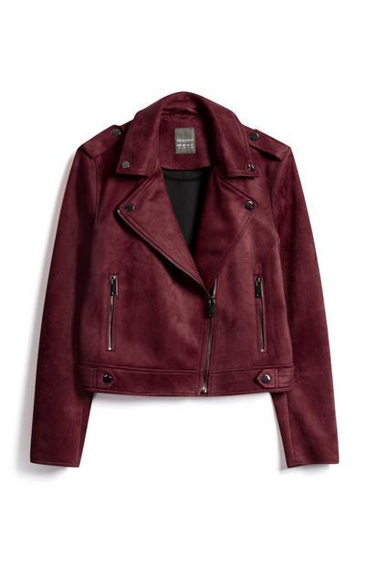Wine Biker Jacket
