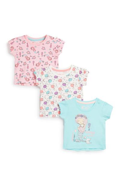 Baby Girl T-Shirt 3Pk
