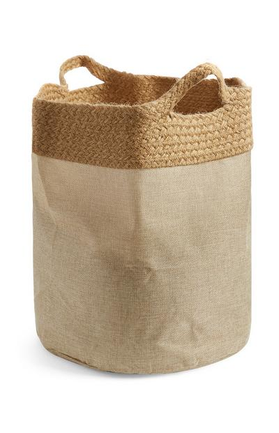 Natural Jute Laundry Bag