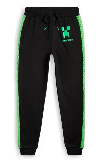 Older Boy Green Minecraft Joggers