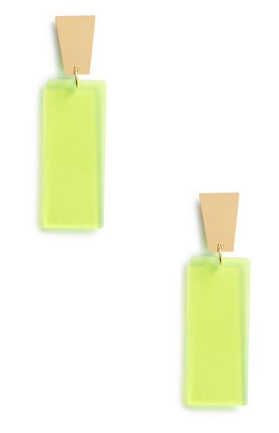 Neongrüne Ohrringe