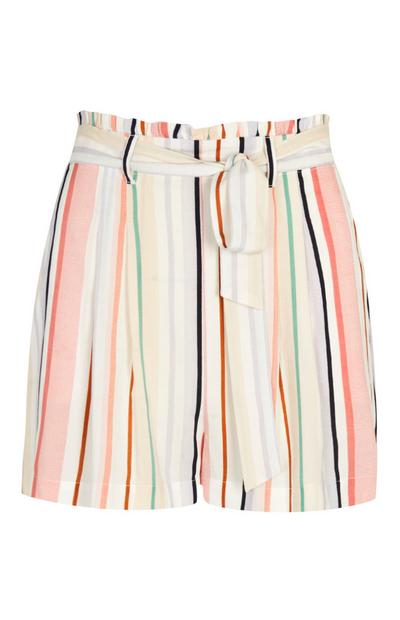 Stripe Belted Skirt