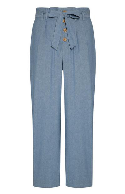 Blue Button Pants