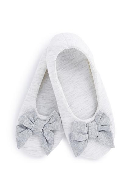 Grey Footlet Slipper