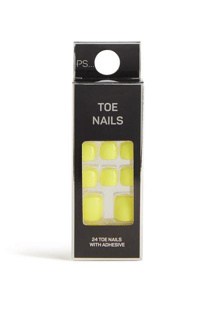 Neon False Toe Nails