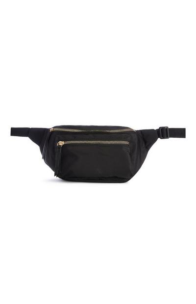 Black Nylon Bum Bag