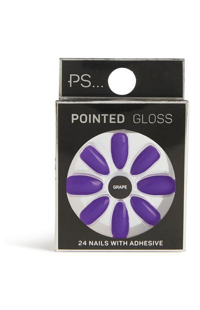 Pointed Gloss False Nails