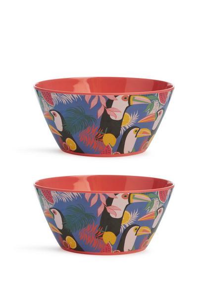 Patterened Bowls 2Pk