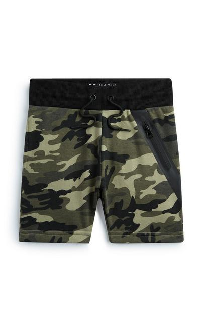 Younger Boy Camo Short