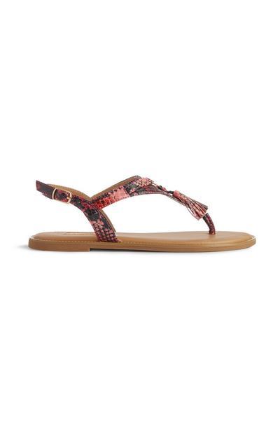 Sandalen mit Schlangendruck