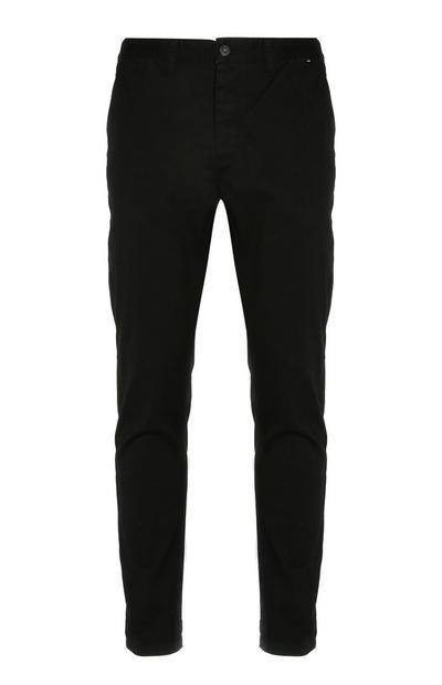Black Stretch Slim Leg Chinos