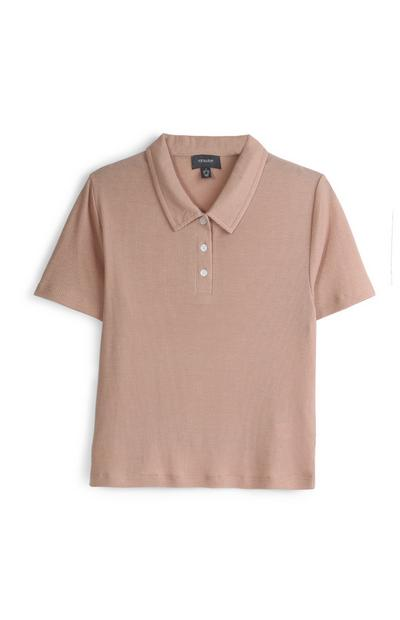 Tan Polo Top