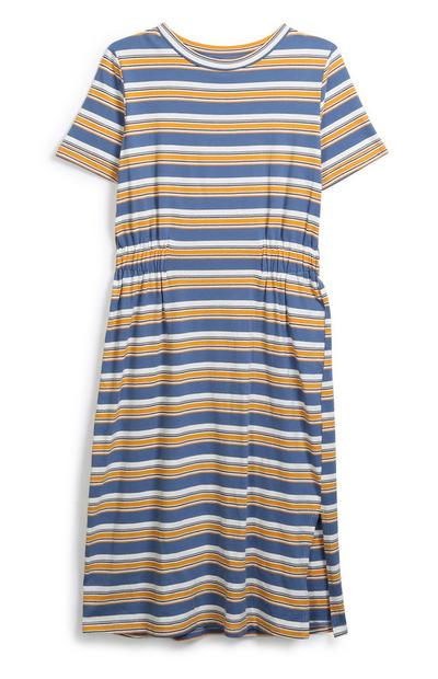 Striped Jersey Midi Dress
