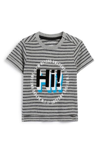 T-Shirt mit Slogan für Babys (J)