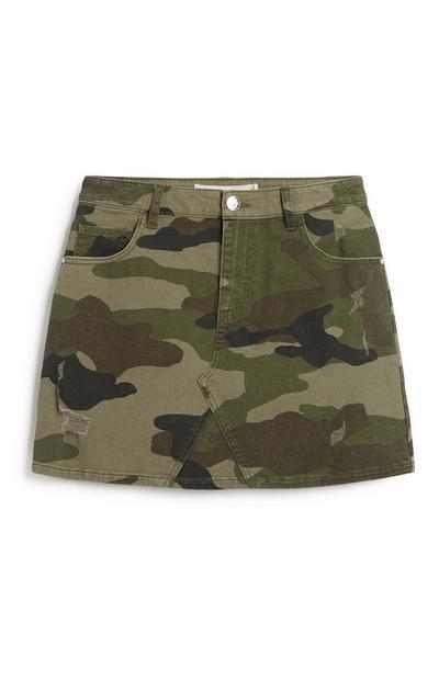 Older Girl Camo Skirt