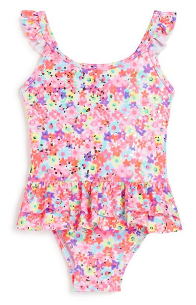Baby Girl Floral Swimsuit