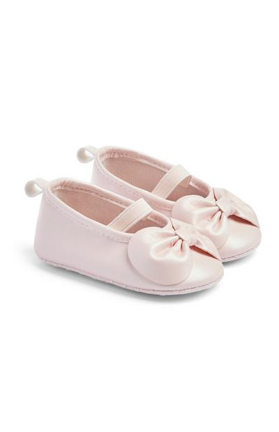 Baby Girl Pink Bow Shoes