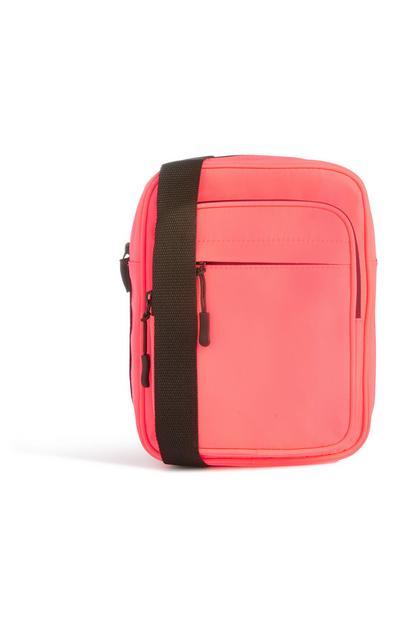 Pink Nylon Crossbody
