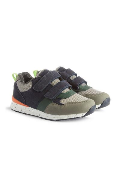 Velcro Colour Block Trainer