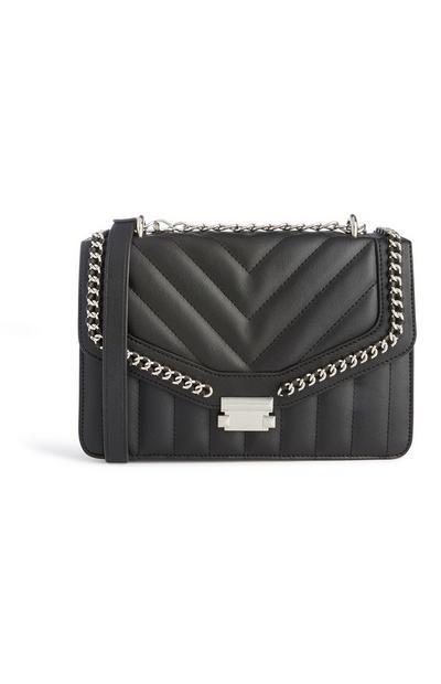 Gesteppte Tasche in Schwarz