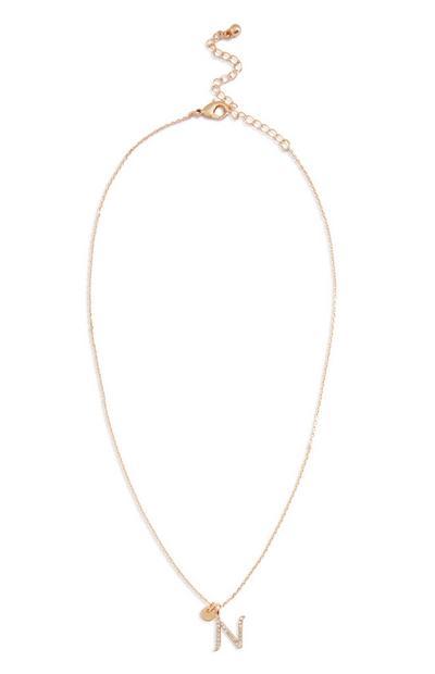 Halskette mit Initiale